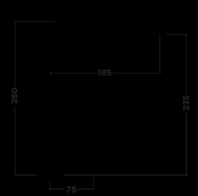 R1000 Rubic Sink Mixer Dimensions