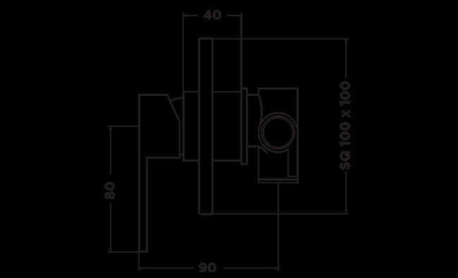 R1015 RUBIC SHOWER MIXER