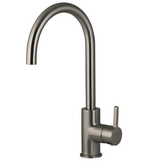 Aloe Sink Mixer Brushed Nickel