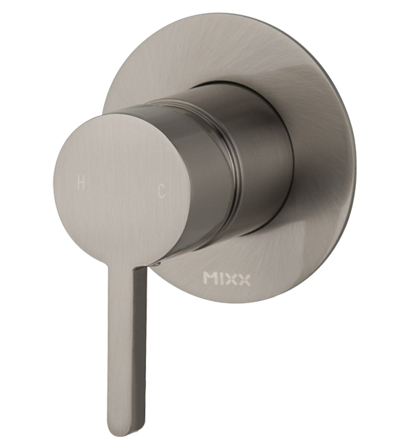 Aloe Shower Wall Mixer Brushed Nickel