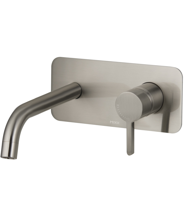 Aloe Wall Plate Mixer Brushed Nickel