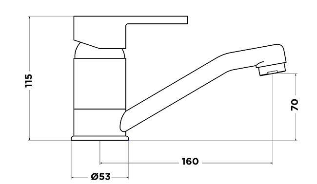 Ah1025 Swivel Basin Mixer Tapware