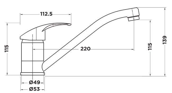 aQ1000 Aquamix Sink Mixer Tapware Specs