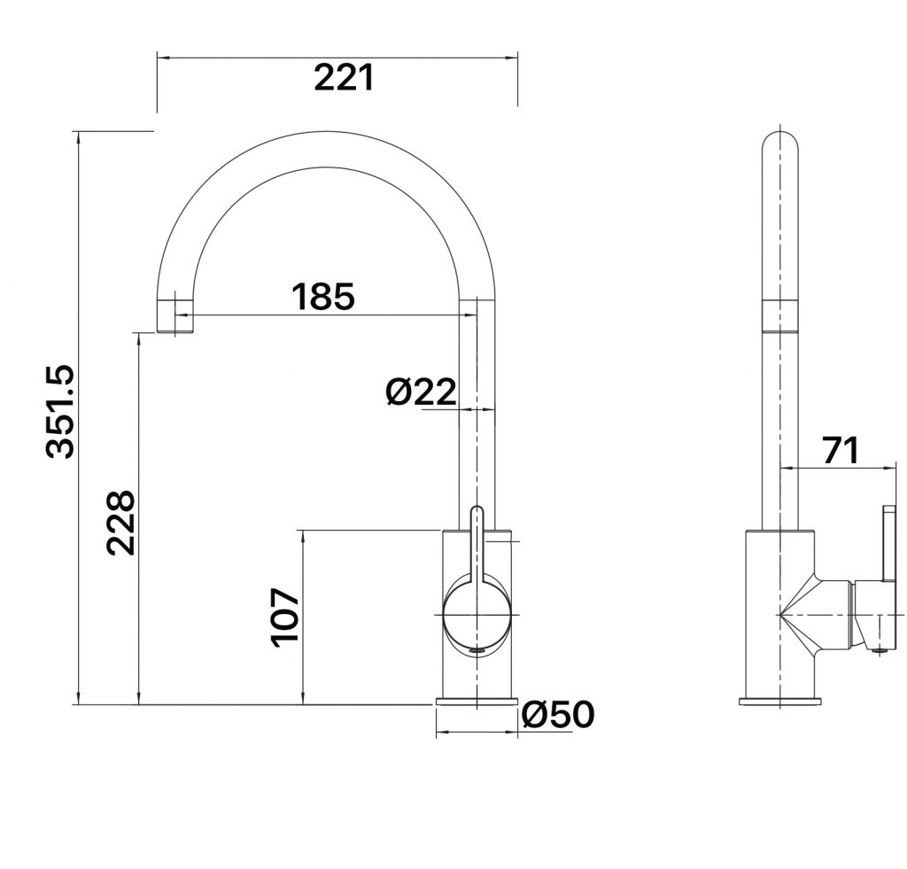 Aloe Sink Mixer Specs