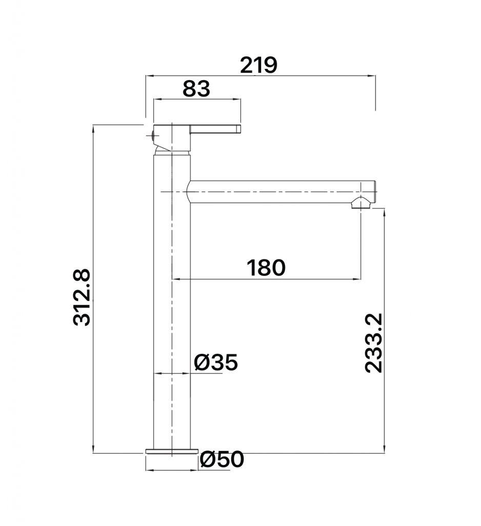 Aloe Tower Vessel Mixer Specs