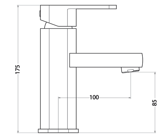 B1005 Bingo Basin Mixer Dimensions