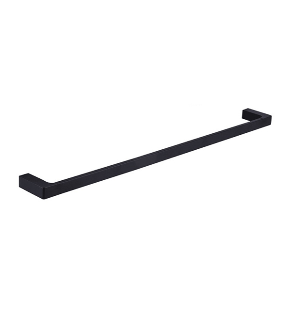 600mm Single Black Towel Rail