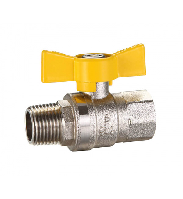 Ball Valve Butterfly Handle M&F