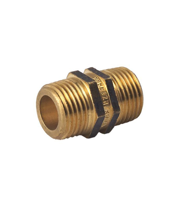Brass Hex Nipple 4mm - 100mm