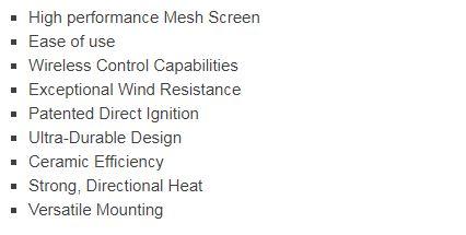 Bromic Tungsten Smart Heat Gas 300 series features