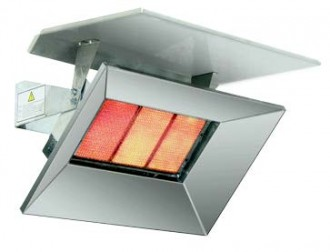 Bromic outdoor wall heater heat deflector