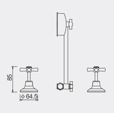 Caprice Shower Set Dimensions