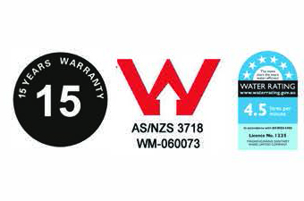 Wallmount sensor Taps commercial wels rating and 15 year warranty
