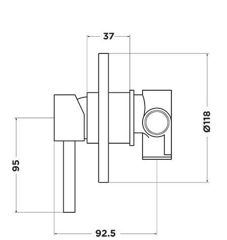 D1015 Dahlek Shower Mixer