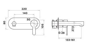 AH1010 Wall Plate Mixer Brasshards Tapware