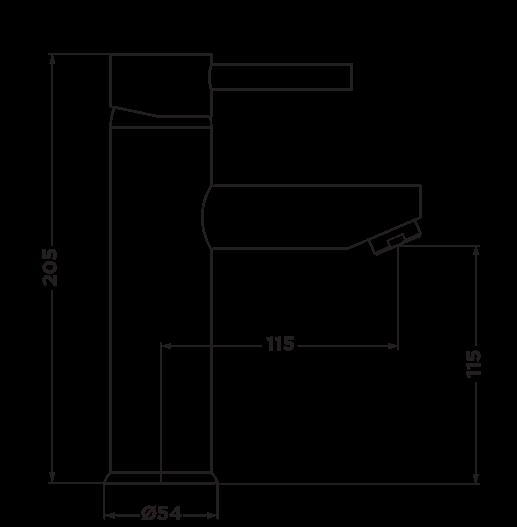 D1005 Dahlek Basin Mixer DIMENSIONS