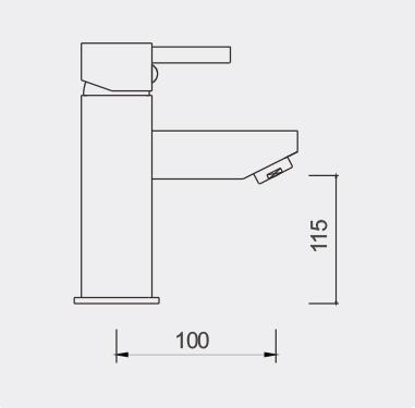 Enrico 165mm Basin Mixer