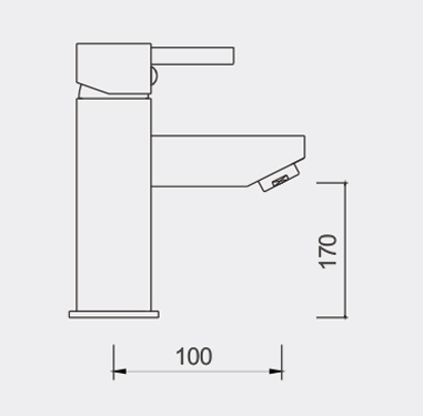 Enrico 220mm Basin Mixer Dimensions