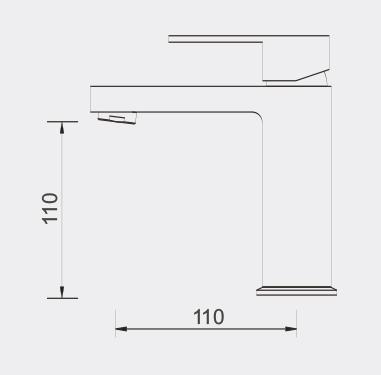 Ettore Basin Mixer dimensions