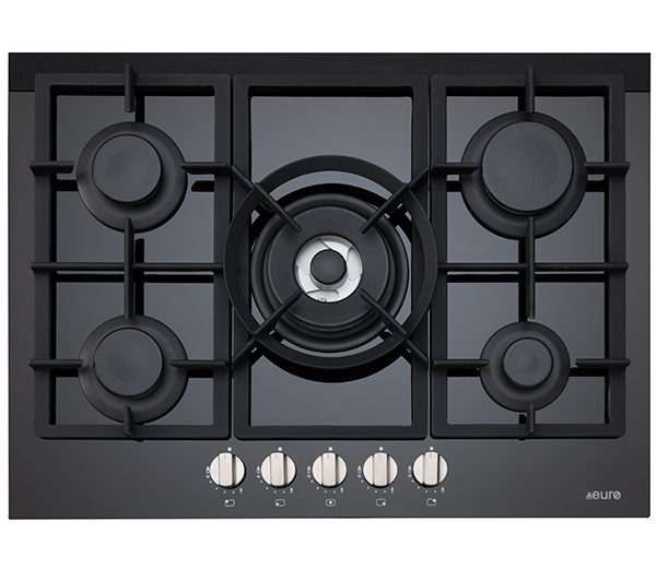 70cm Gas On Ceramic Cooktop Easy Clean Glass With Non Slip Cast Iron