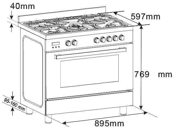 EUR1020 - Euro 90cm Dual Freestanding oven