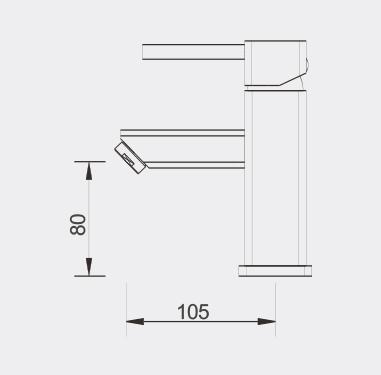 Fidre Basin Mixer Dimensions