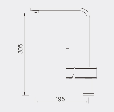 Fidre Kitchen Mixer Dimensions