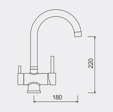 FIL1005 Filtered Water Tap Dimensions