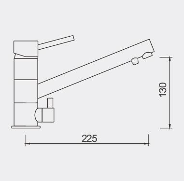FIL1010 Filtered Water Tap Dimensions
