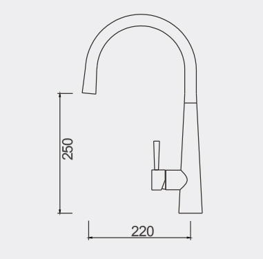 Fosca Pull Out Sink Mixer Dimensions
