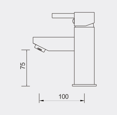 Fosca Black Basin Mixer Dimensions