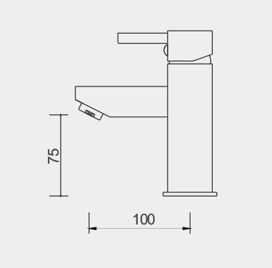 Fosca Basin Mixer Dimensions