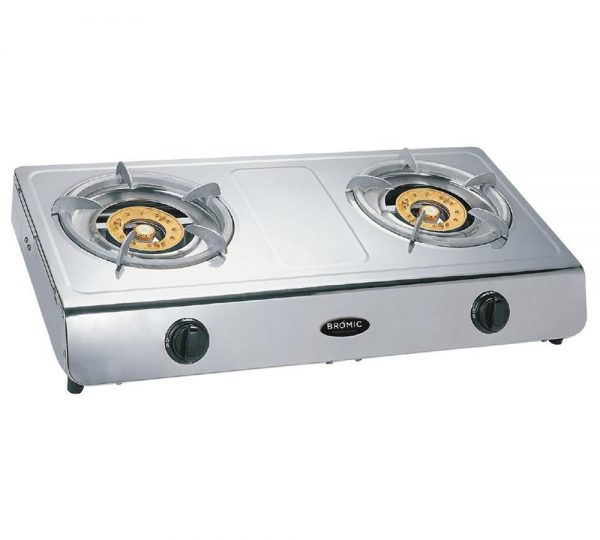 GC1040 Deluxe LPG Wok Cooker stainless steel twin burner