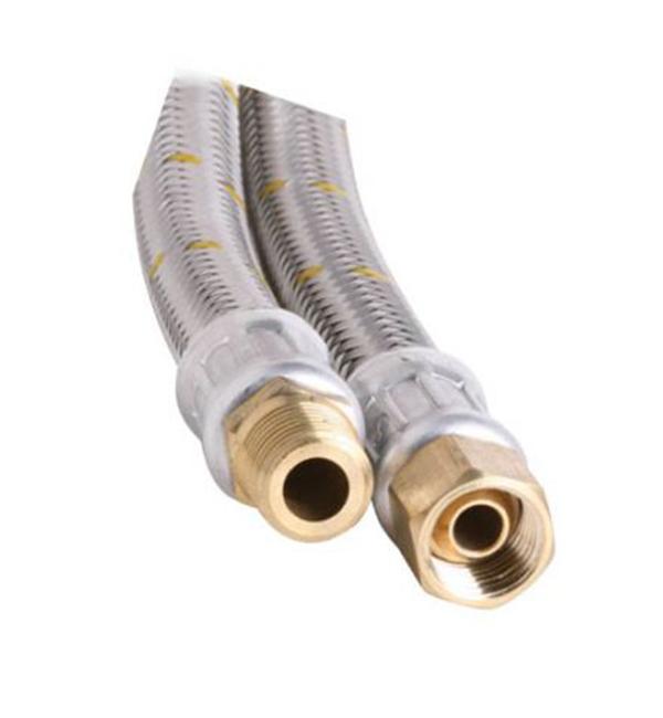 """10mm SS Gas Hose 1/4"""" BSP FC x 1/4"""" BSP M 1500mm"""