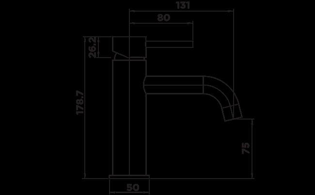 H1010 Holli Basin Mixer DIMENSIONS