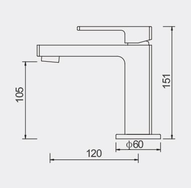 Lucas Basin Mixer Dimensions
