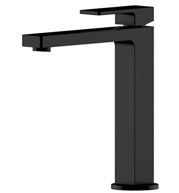 Lucas High Black Basin Mixer