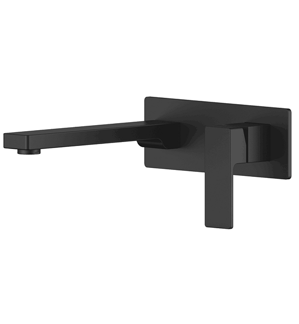 Lucas Black Wall Basin Bath Mixer