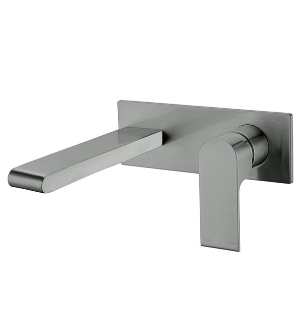 Bianca Wall Basin Mixer Gun Metal Grey