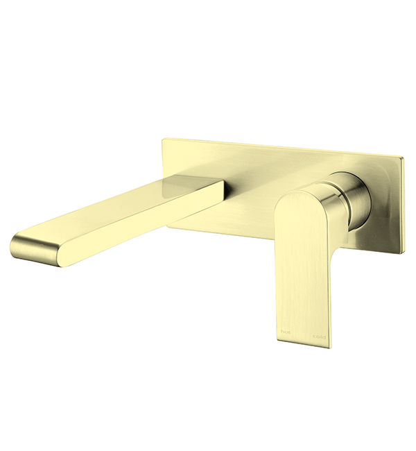 Bianca Wall Basin Mixer Brushed Gold