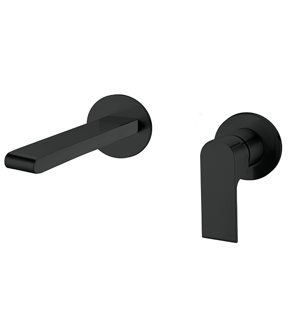 Bianca Wall Basin MIxer Matte Black