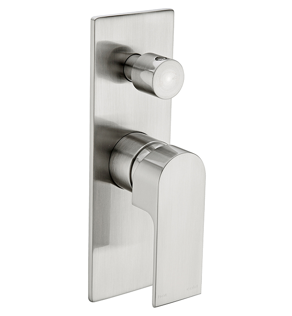 Bianca Shower Diverter Mixer Brushed Nickel