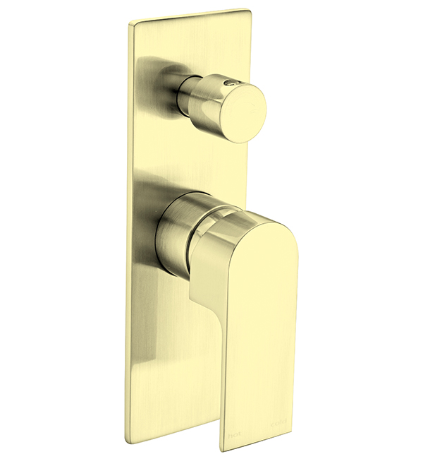 Bianca Shower Diverter Mixer Brushed Gold