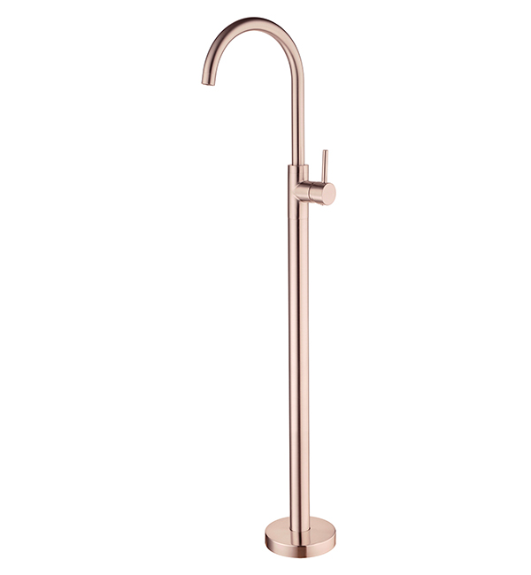 Dolce Floormount Mixer Brushed Rose Gold