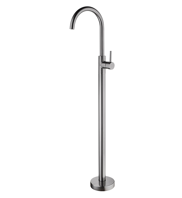 Dolce Floormount Mixer Gun Metal Grey