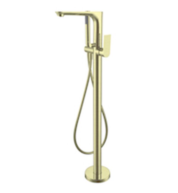 Bianca Floor Standing Bath Mixer Brushed Gold