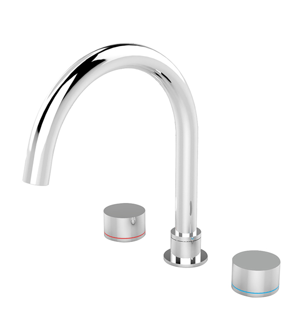 Kara Bath Set Chrome