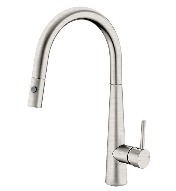 Dolce Pull Out Vegie Spray Sink MIxer Brushed Nickel
