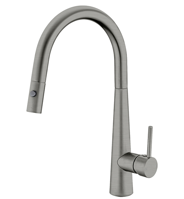 Dolce Pull Out Vegie Spray Sink MIxer Gun Metal