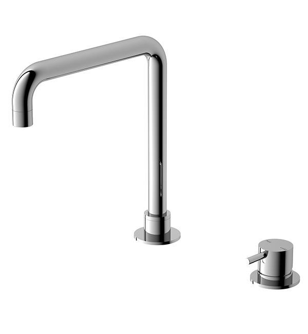 Hob Basin Mixer Square Spout Chrome